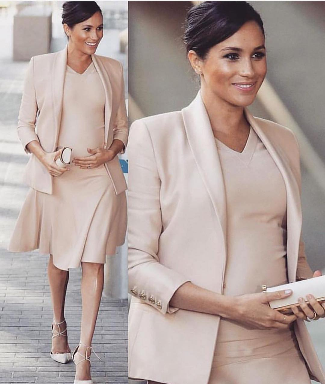 Pastel Suit Jacket And Matching Dress: Cream Blush OOTD 2020